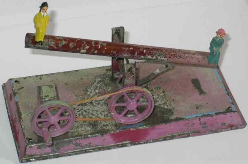 doll 906 dampfspielzeug antriebsmodell baumwippe mit 2 figuren