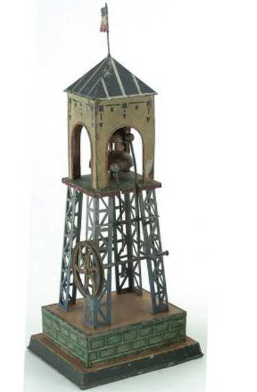 doll dampfspielzeug antriebsmodell glockenturm 2 glocken