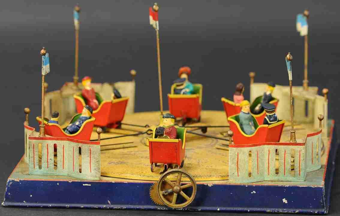 doll dampfspielzeug kirmeskarussell als antriebsmodell karren figuren