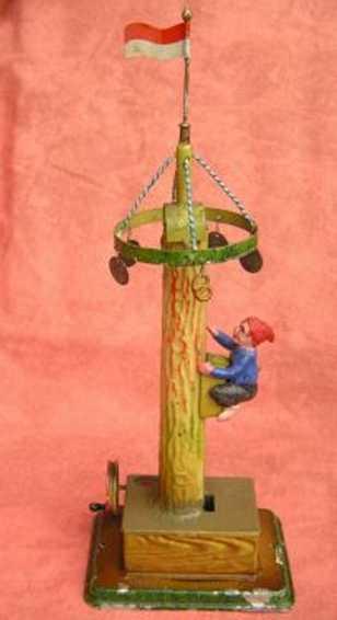 doll 771 dampfspielzeug antriebsmodell maibaum- kletterer zwerg