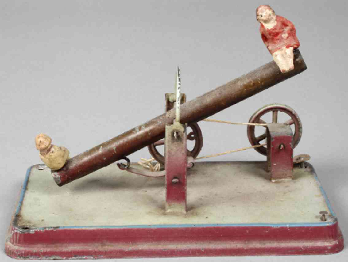doll steam toy drive model swing embossed painted tin tow mass figures