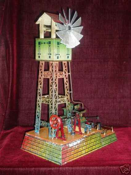 doll 695/1 drive model water tower with windmill