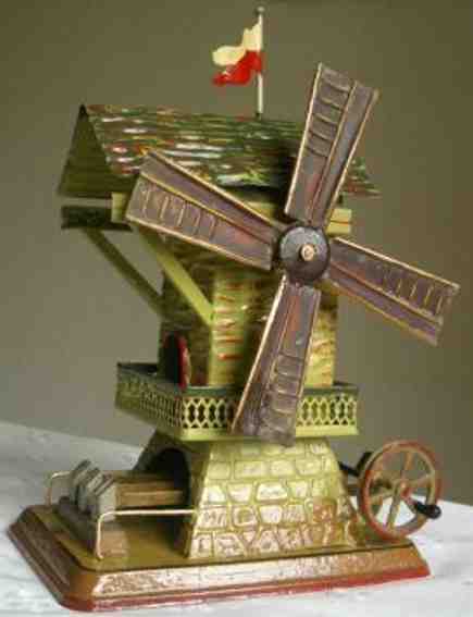 doll 707 steam toy drive model windmill with triple hammer work