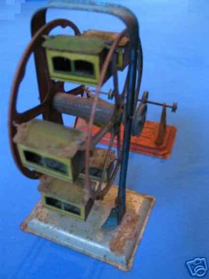 falk dampfspielzeug antriebsmodell riesenrad (prater) mit 6 lithografierten gondeln ; artikel-n