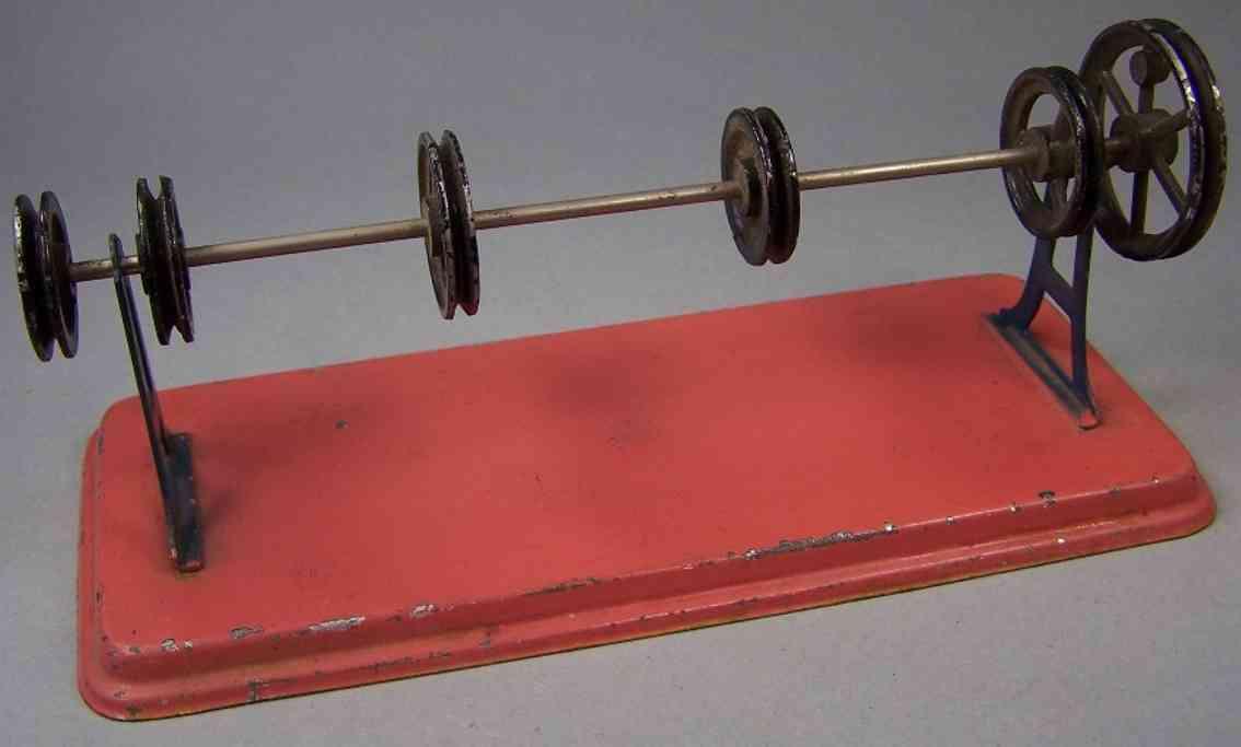 falk 299/37 dampfspielzeug antriebsmodell transmission rot 6 raeder