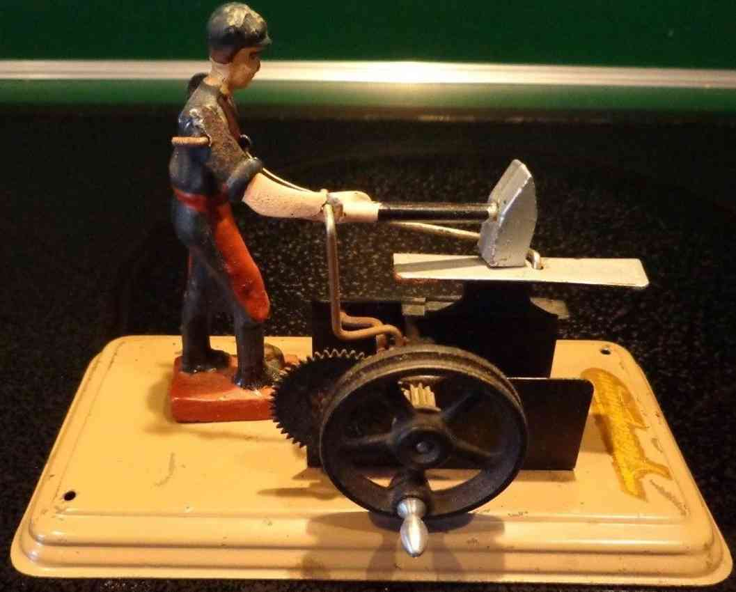 fleischmann 232 1955 steam toy drive model blacksmith anvil figure