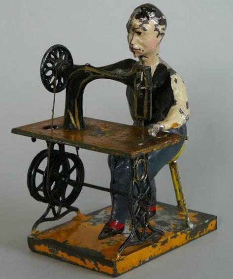Günthermann Antriebsmodell Mann an Nähmaschine