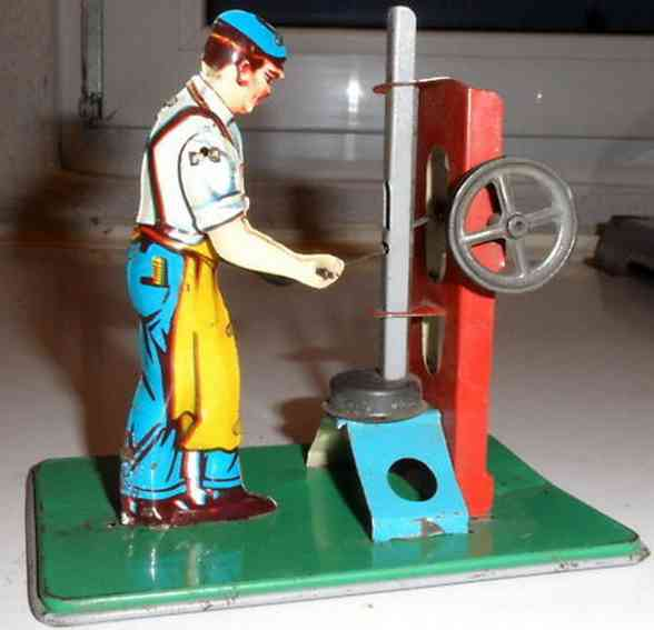 keim dampfspielzeug antriebsmodell mann an stampfer
