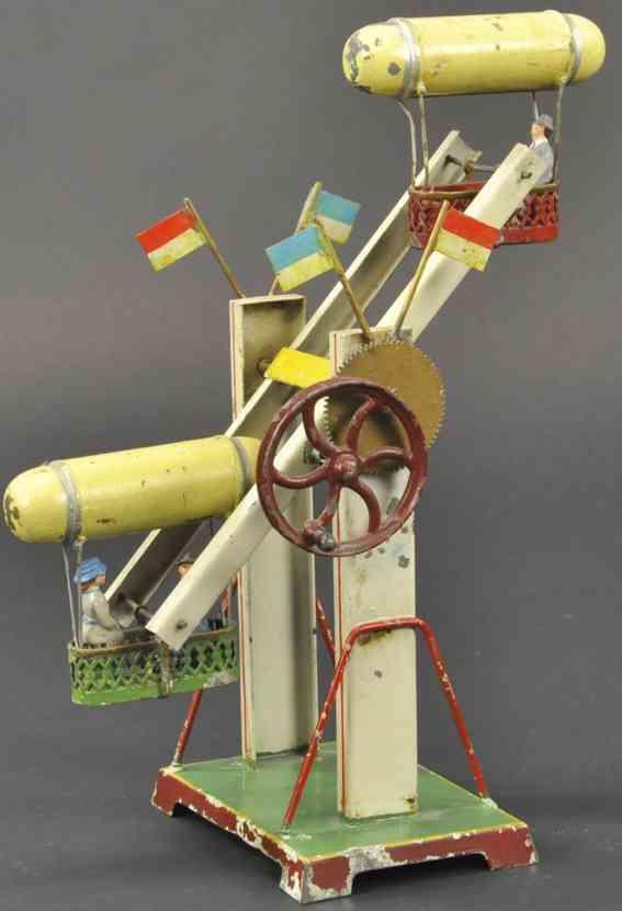 mohr & krauss dampfspielzeug antriebsmodell karussell zwei zeppeline