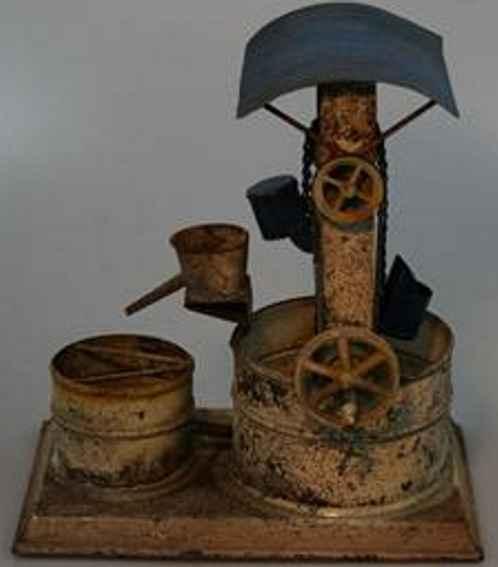 mohr & krauss steam toy drive model dredge with 2 buckets
