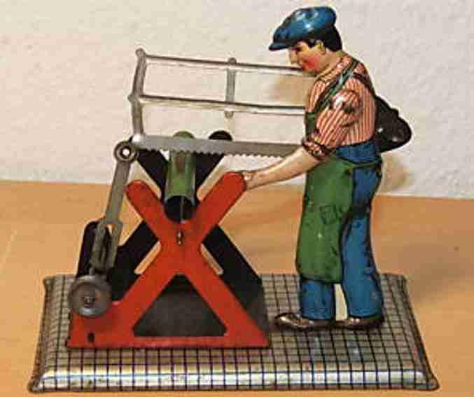 mohr & krauss dampfspielzeug antriebsmodell holzsaeger