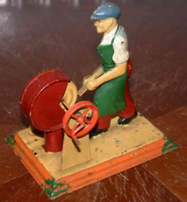 mohr & krauss dampfspielzeug antriebsmodell mann am schleifstein