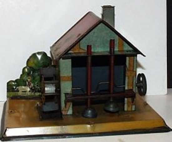 mohr & krauss dampfspielzeug antriebsmodell wassermuehle mit 2 haemmern