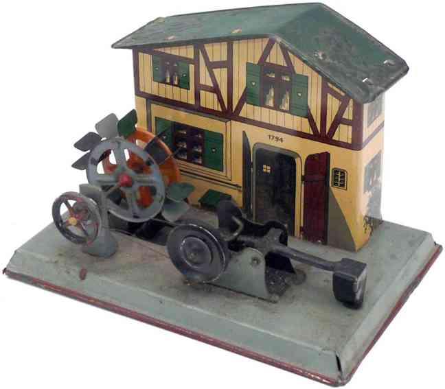 mohr & krauss dampfspielzeug antriebsmodell wassermuehle