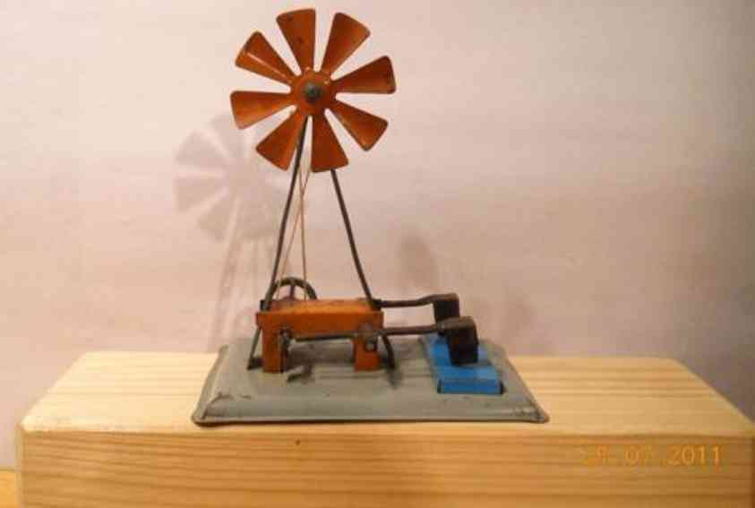 mohr & krauss dampfspielzeug antriebsmodell windrad mit hammerwerk