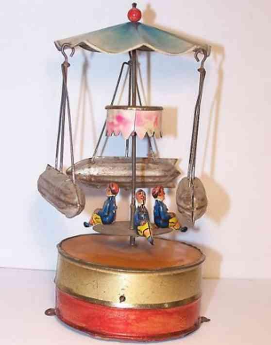 mohr & krauss dampfspielzeug antriebsmodell karussell mit drei zeppelinen