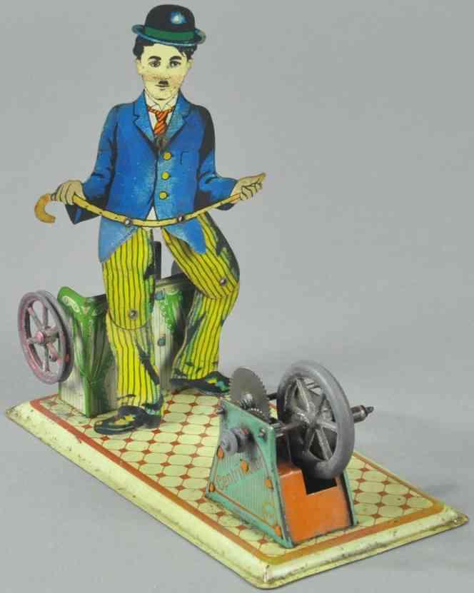 krauss wilhelm dampfspielzeug antriebsmodell charlie chaplin stepptaenzer
