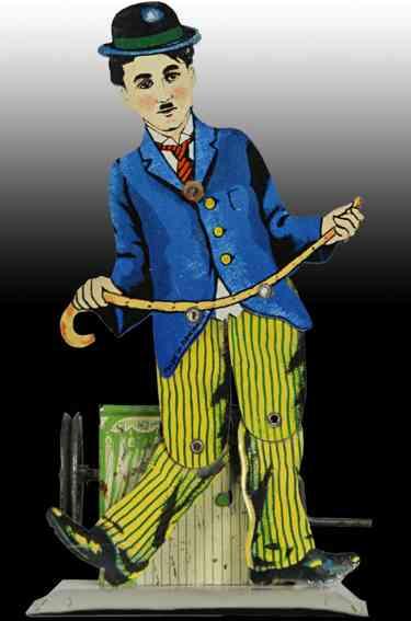 krauss wilhelm Charlie Chaplin steam toy drive model tin lever-operated charlie chaplin german slate dancer toy.