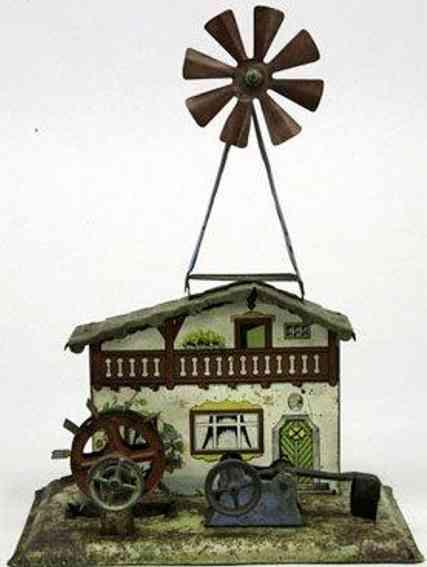 Krauss Wilhelm Antriebsmodell Mühlhaus mit Hammerwerk und Windmühle