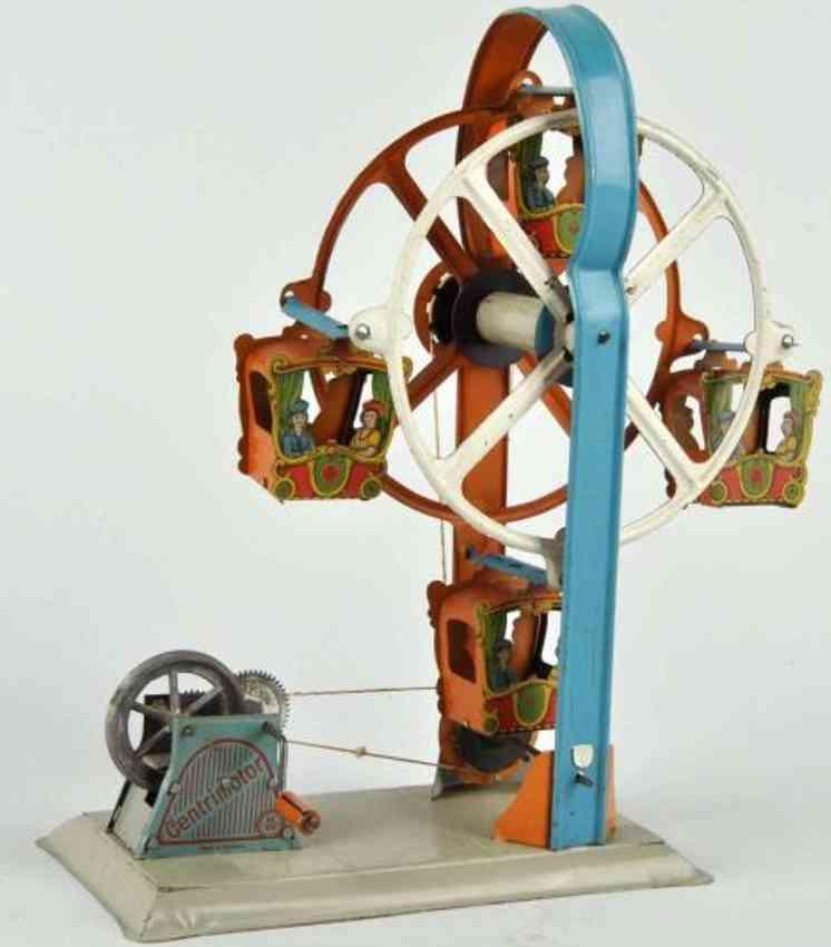 krauss wilhelm dampfspielzeug antriebsmodell riesenrad mit schwungrad gondeln jungen maedchen