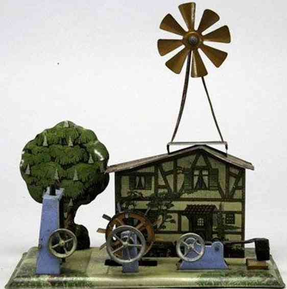 krauss wilhelm steam toy drive model house with water and hammer work and windmill