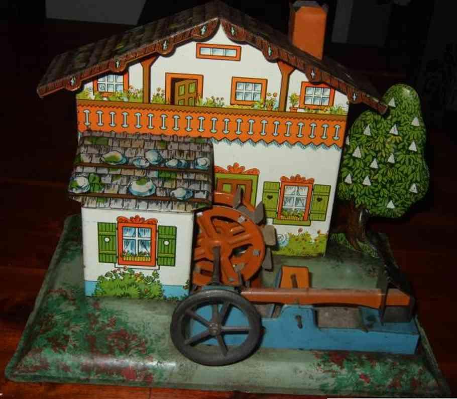 krauss wilhelm dampfspielzeug antriebsmodell bayerische wassermühle mit mühlenrad und hammerwerk