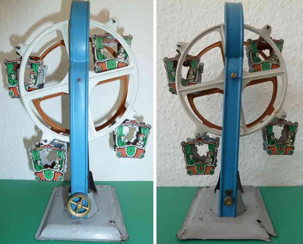 krauss wilhelm dampfspielzeug antriebsmodell riesenrad 4 gondeln