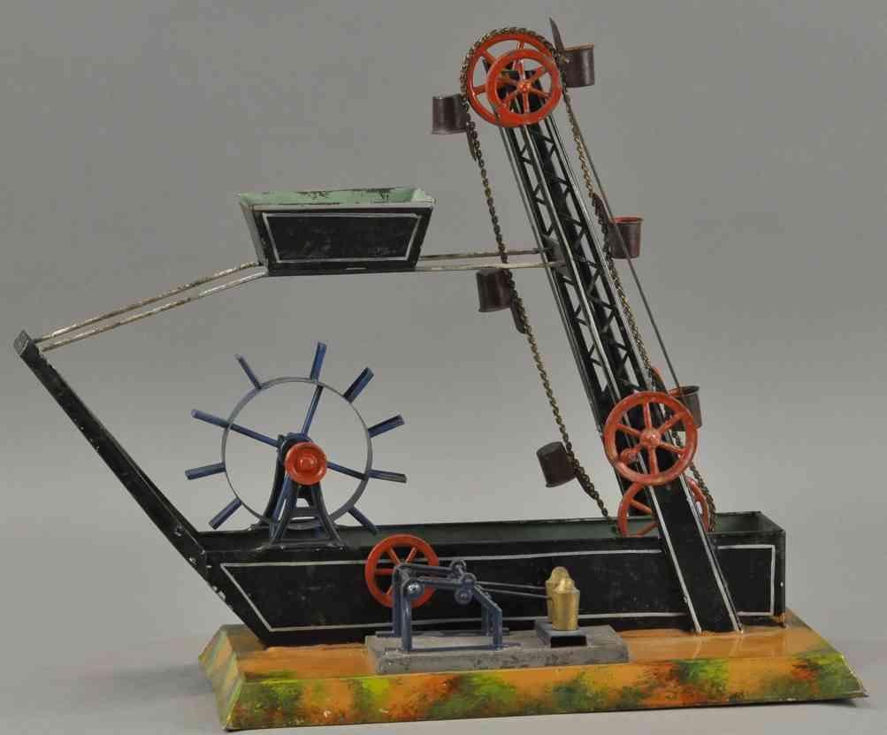 maerklin dampfspielzeug antriebsmodell wasserrad hammwerk