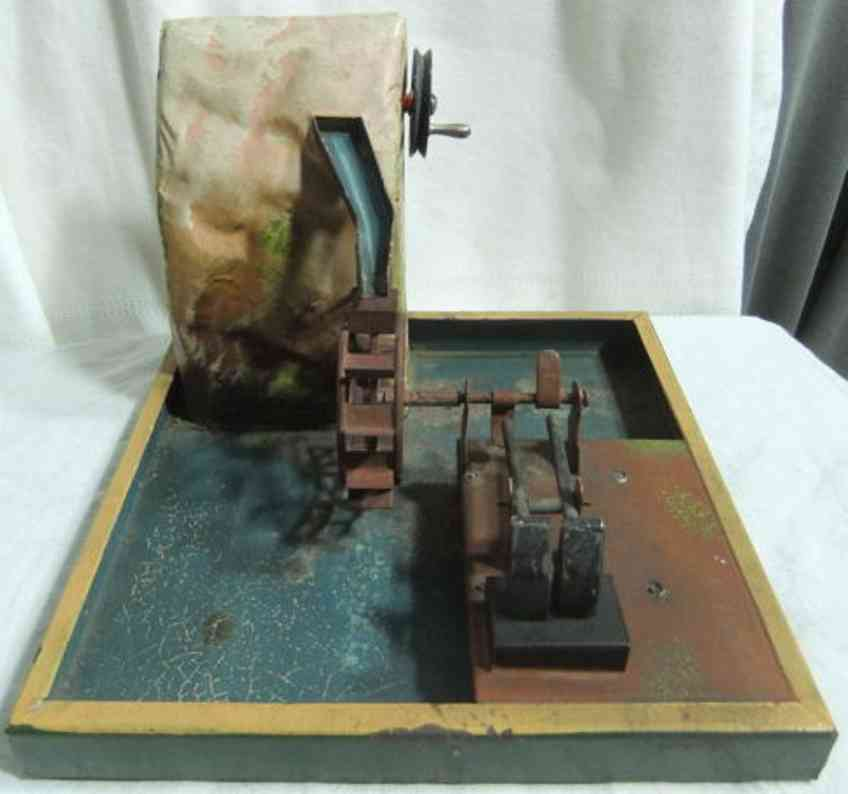 Maerklin Drive Model Mountain with waterwheel and trip hammer