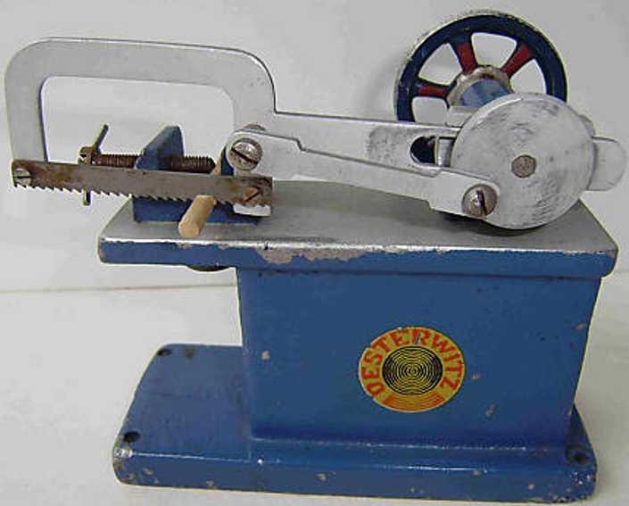 oesterwitz dampfspielzeug antriebsmodell bügelsäge aus aluminium-guss mit abnehmbarem und verstellbar