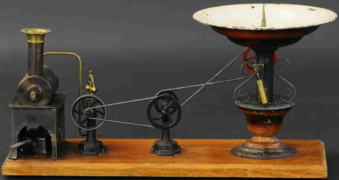 plank ernst dampfspielzeug antriebsmodell dampfmaschine mit brunnen