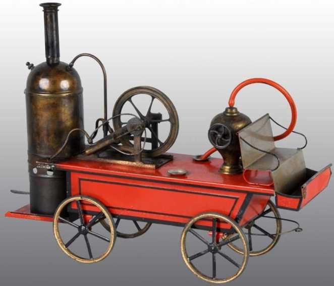 plank ernst steam toy drive model fire pumper