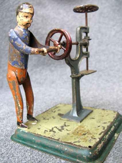 Antriebsmodell Mann an Bohrmaschine