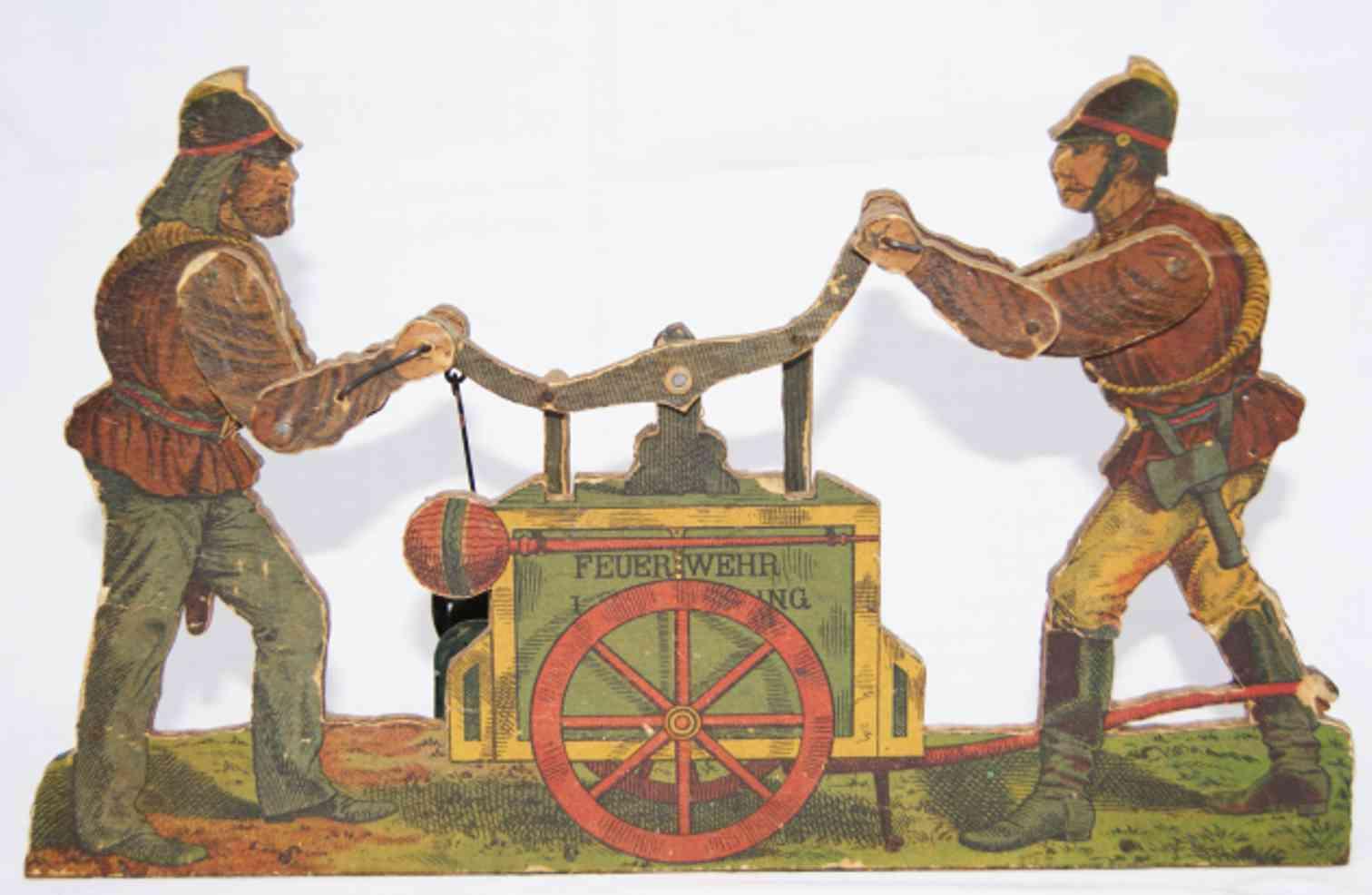 dampfspielzeug antriebsmodell feuerwehr handpumpe für 2 mann holz metall