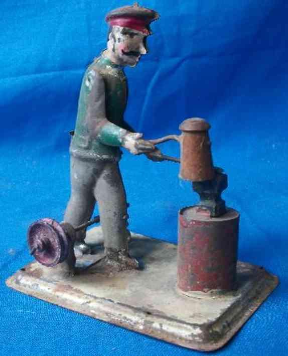 Antriebsmodell Schmied mit Hammer aus Holz