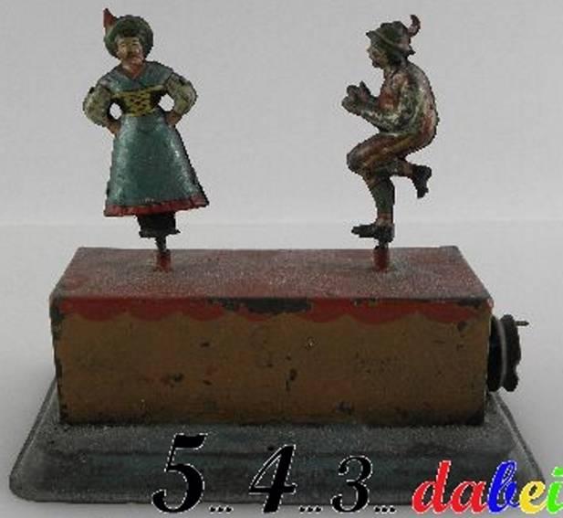 Zwei Tänzer mit Trachten als Antriebsmodell