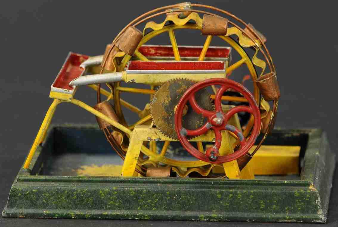 dampfspielzeug wasserrad als antriebsmodell