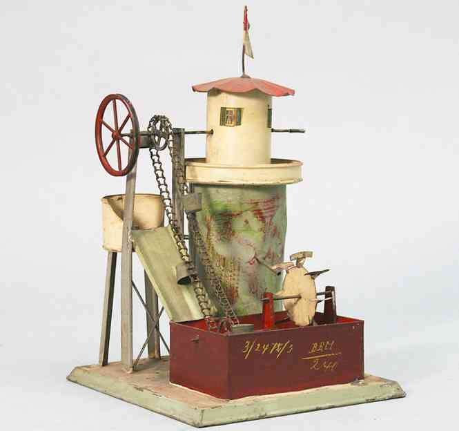Drive Model Water tower with paternoster and waterwheel