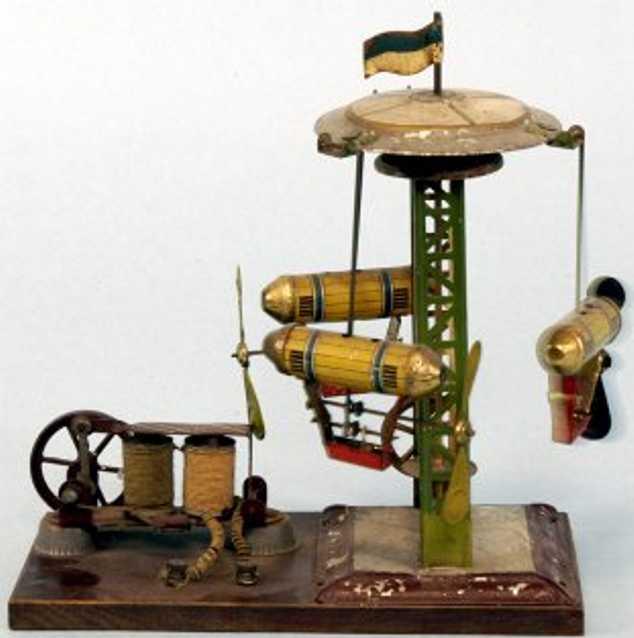Antriebsmodelle Karussel mit drei Zeppelinen