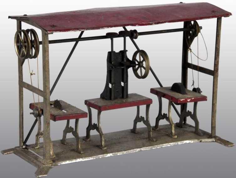 weeden dampfspielzeug antriebsmodell werkstatt bohrerpresse schleifer saege