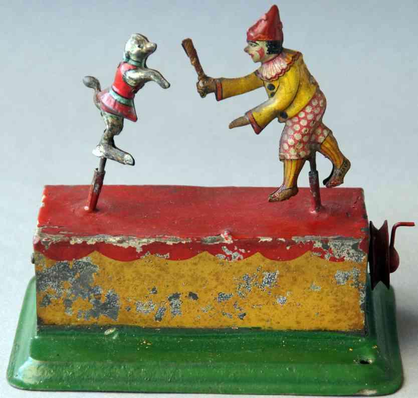 zschopau-schule dampfspielzeug antriebsmodell clown mit hund