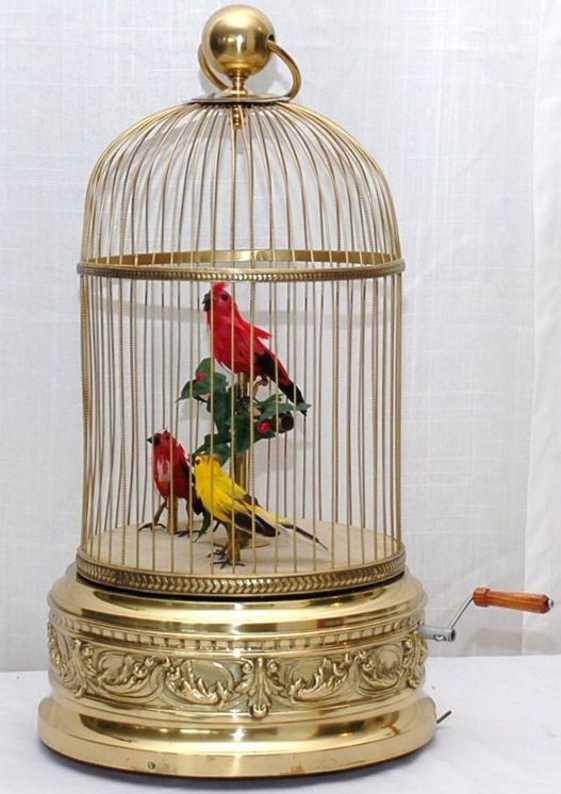 Bontems Charles Automaten Vogelkäfig mit Spieluhr