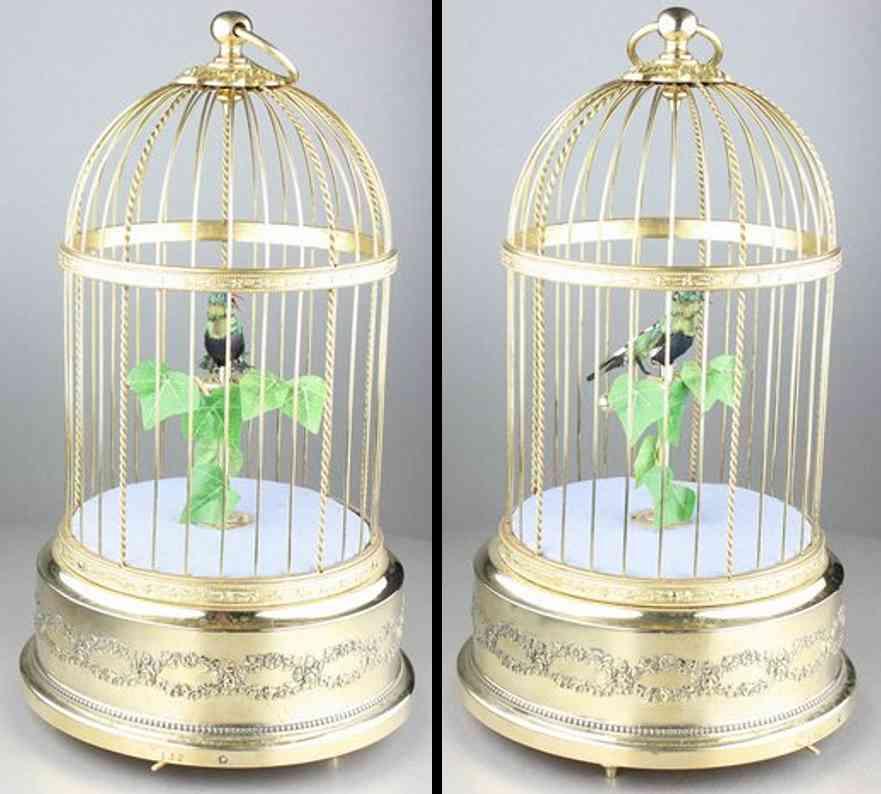 Bontems Charles Automat Singvogel im goldfarbenem Käfig