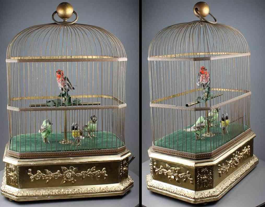 Bontems Charles Vier Singvögel im Käfig