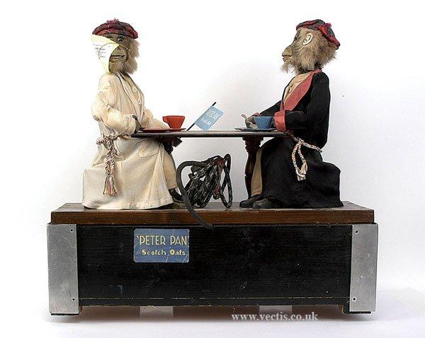 chad valley co ltd automat peter pan, zwei affen automat, die bekannten früheren modell