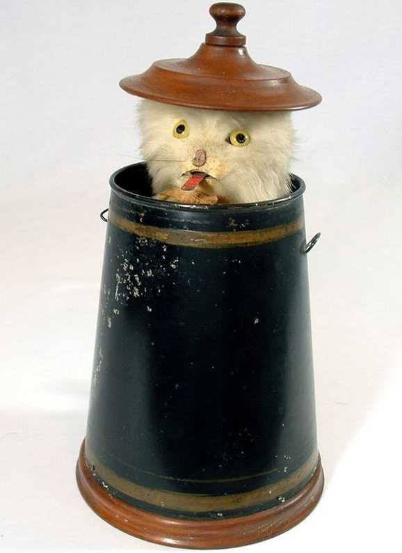 Ives 49-12 Mechanical PEEK-A-BOO cat automaton