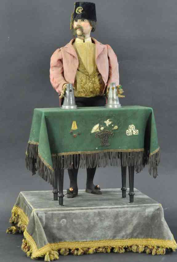magician musical automaton two cones