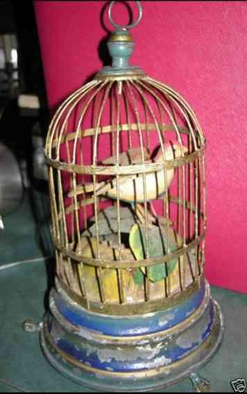 automat vogel im kaefig uhrwerk