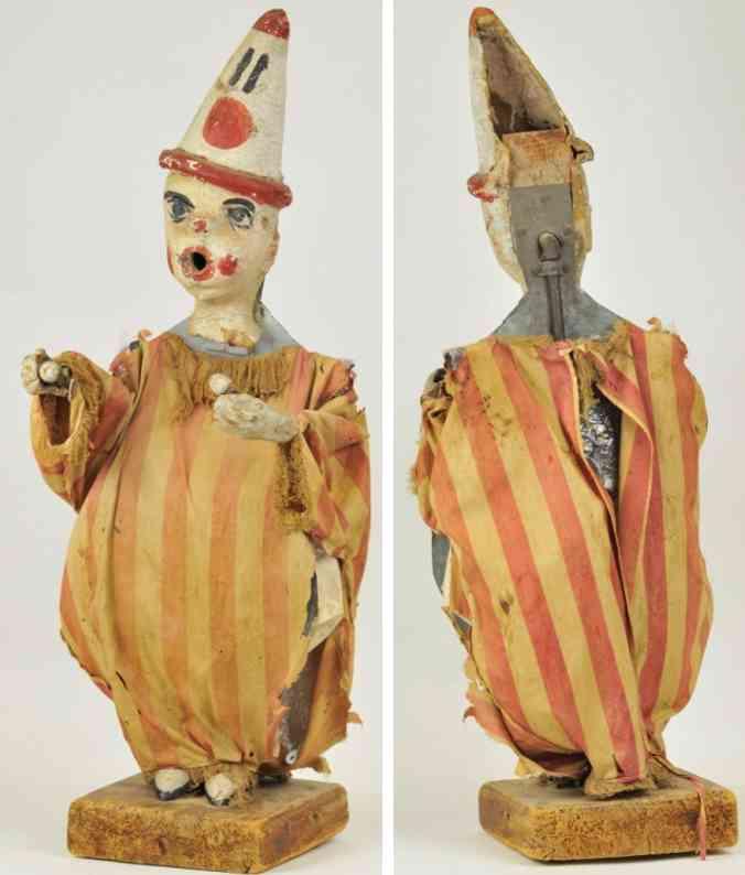 clown mit wehenden kugeln zirkusautomat helium