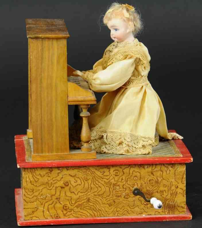 bisque doll pianist automaton